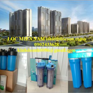 Bộ 3 vỏ lọc nước sinh hoạt khu chung cư