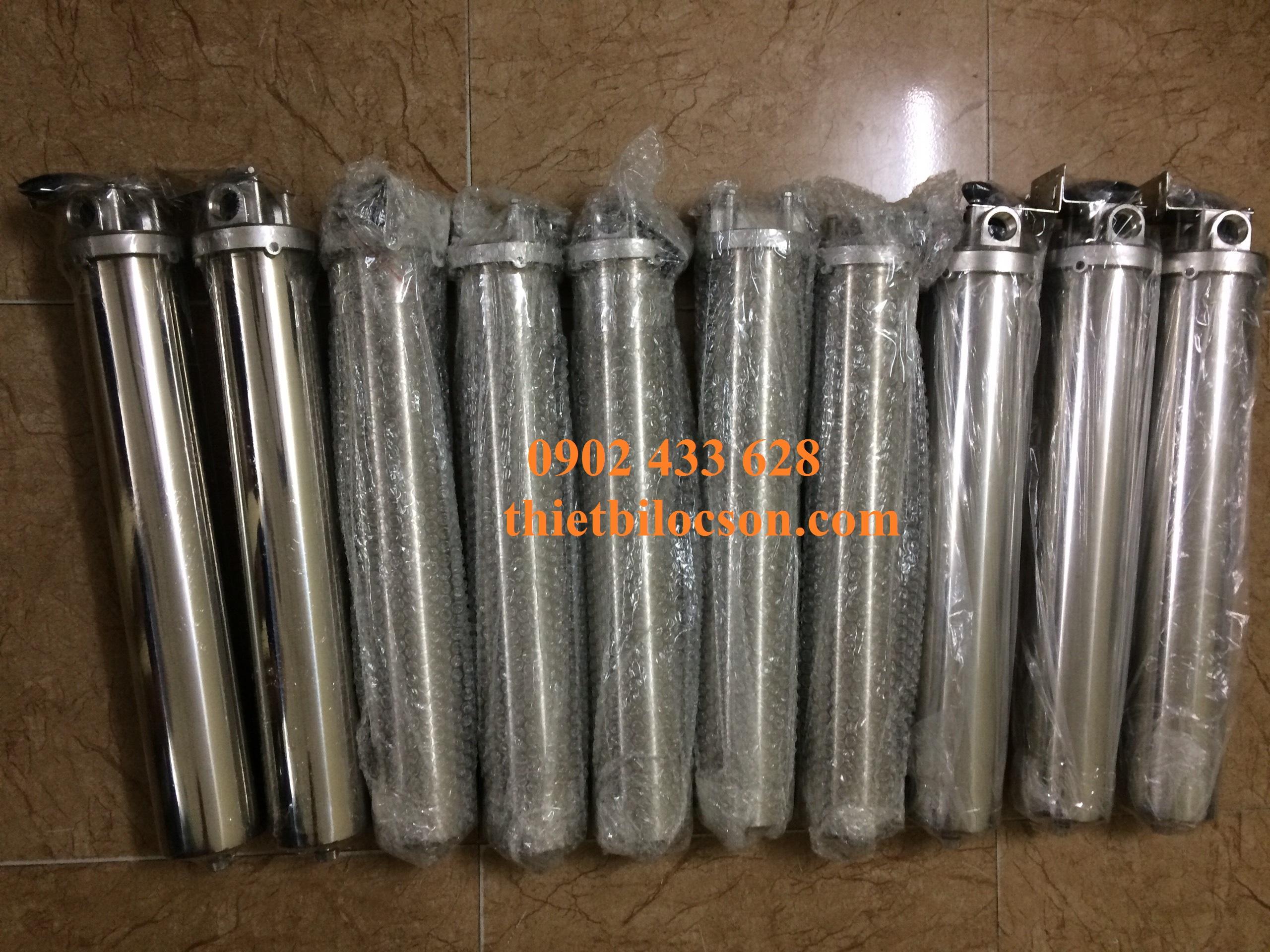 Ly lọc 1 lõi 20 inch chất liệu inox 304