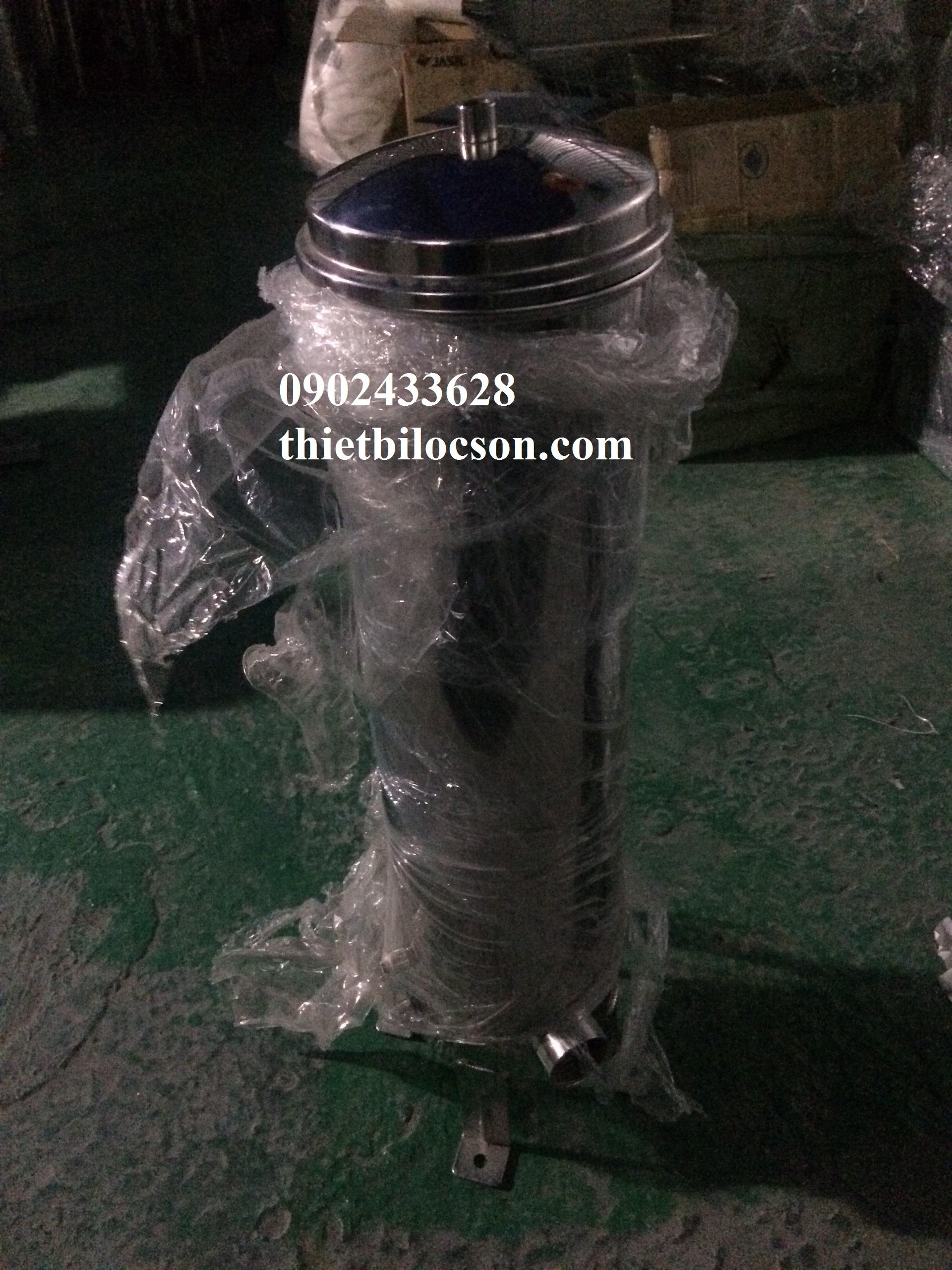 Bình inox 3 lõi 20 inch chuyên dùng lọc nước mắm