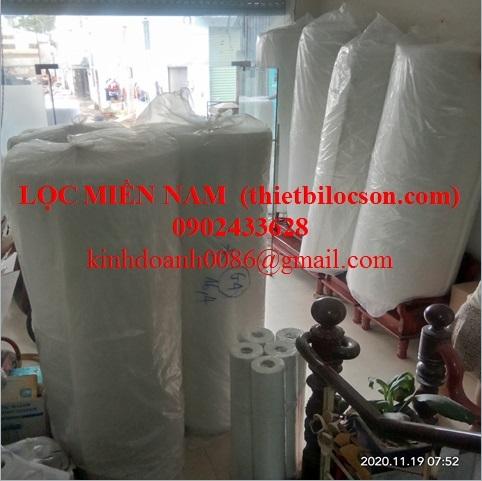 bông trắng lọc nước ao nuôi thuỷ sản 2mx20m