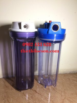 Ly nhựa trong kết nối ren phi 27