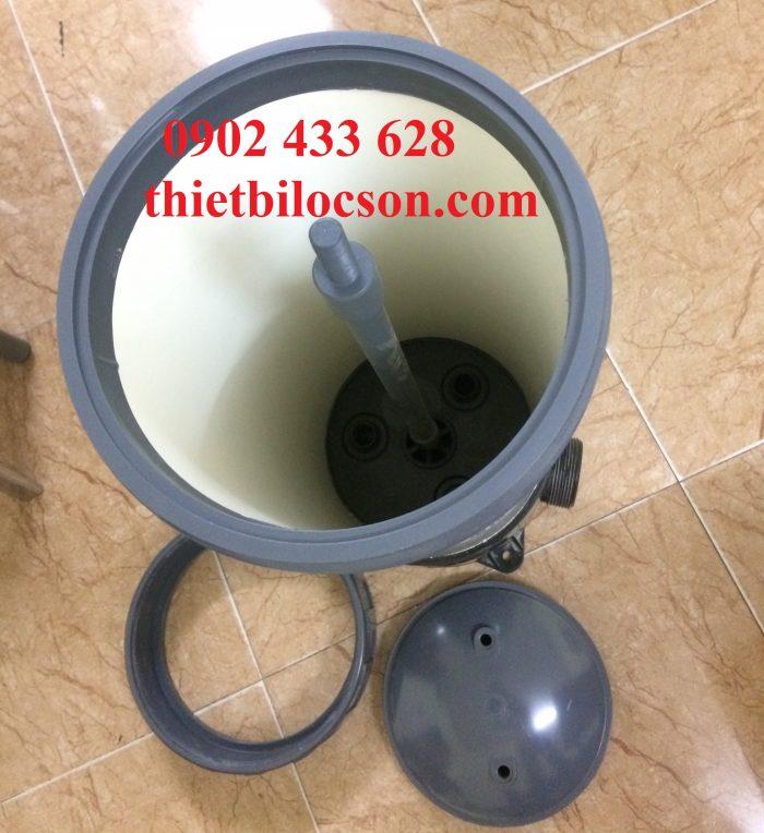 Lọc cặn nước mắm bằng bình lọc lõi nhựa UPVC 3 lõi 20 inch