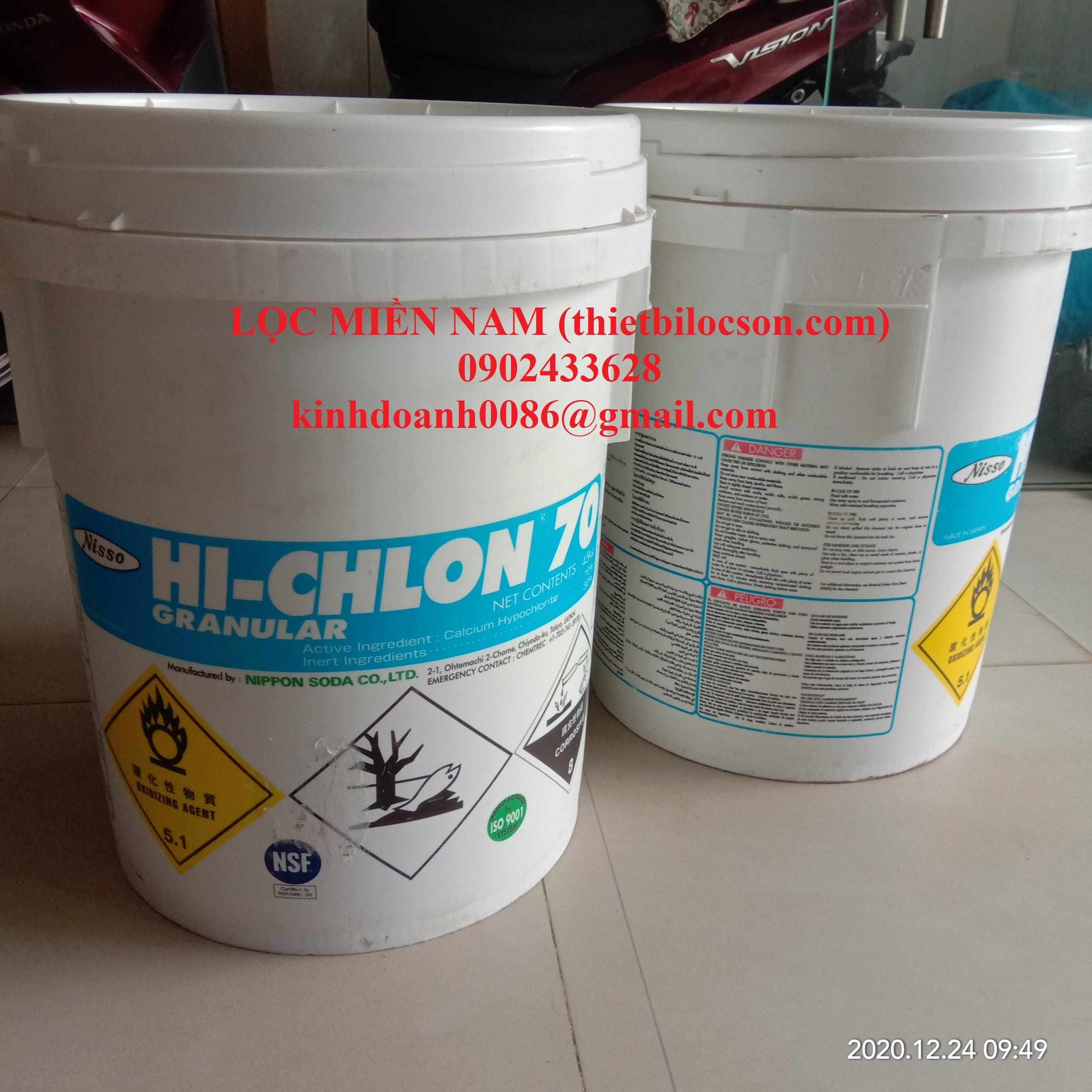 Hoá chất Chlorine nippon 70 khử trùng
