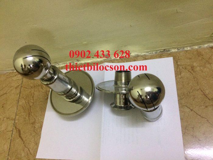 Quả cầu rửa được làm bằng chất liệu inox 316L