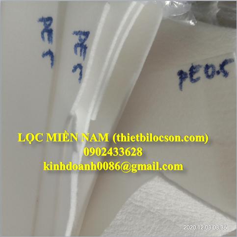 Vải lọc PE cấp độ lọc 0.5- 200 micron
