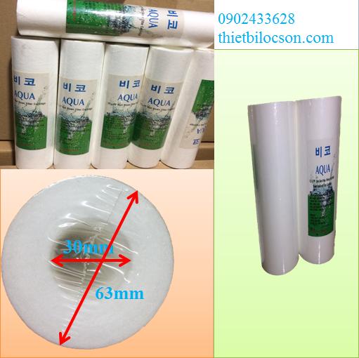 Lõi lọc bông nén Aqua 1 micron lọc cặn nước mắm hiệu quả