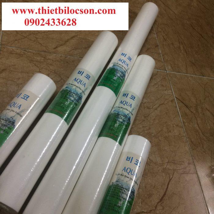 Lõi lọc bông nén 30 inch 1 micron đa dạng cấp độ lọc