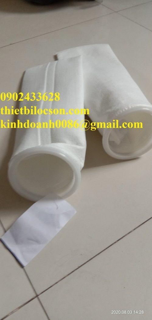 Túi lọc PE miệng vòng nhựa 100x400mm