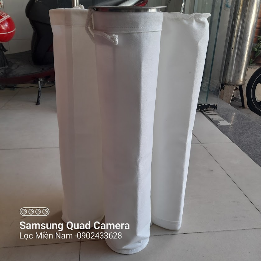 Túi PE 500G và khung xương lọc bụi