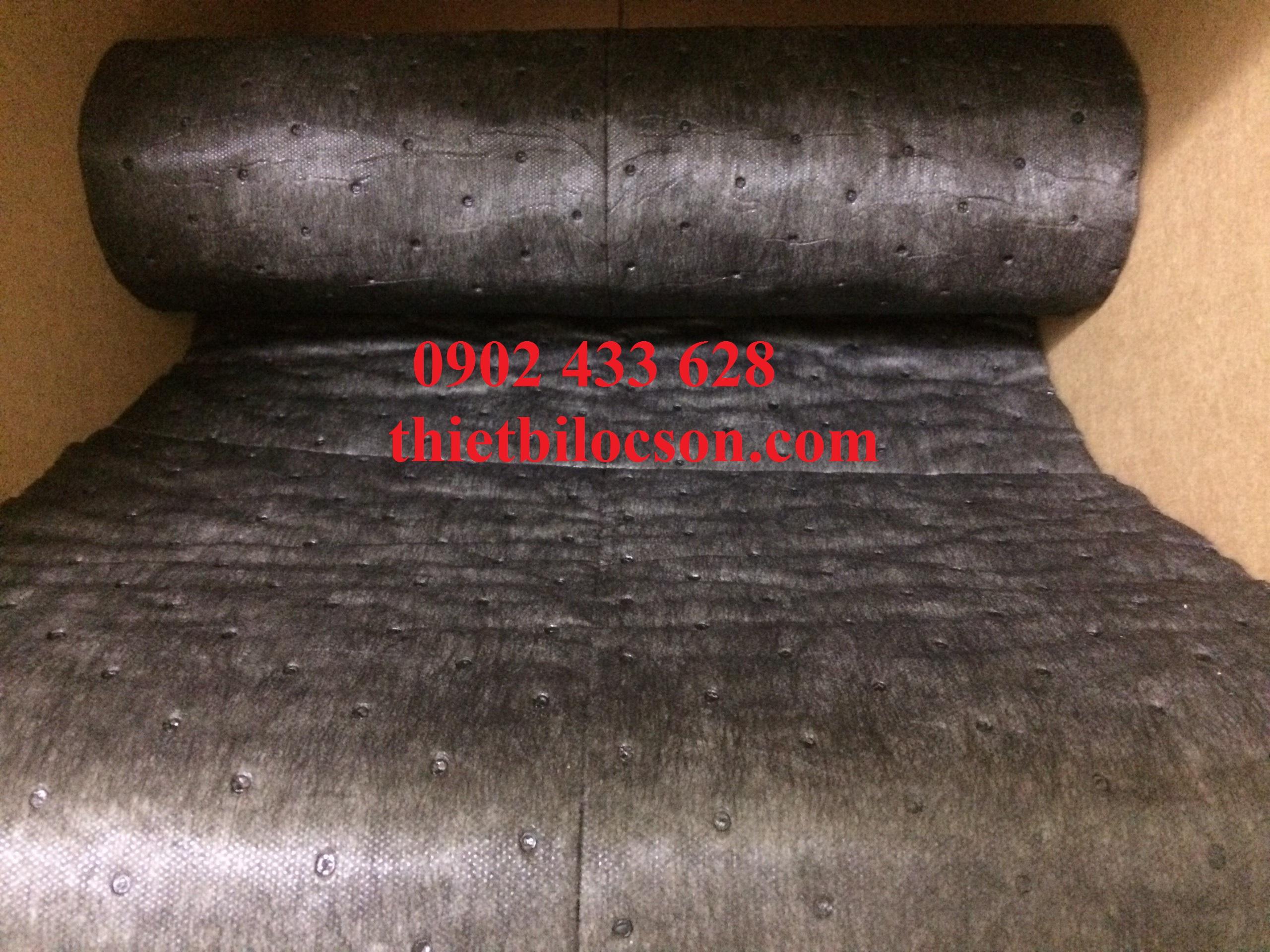 Tấm thấm dầu đa năng xám đen lọc 120 lít