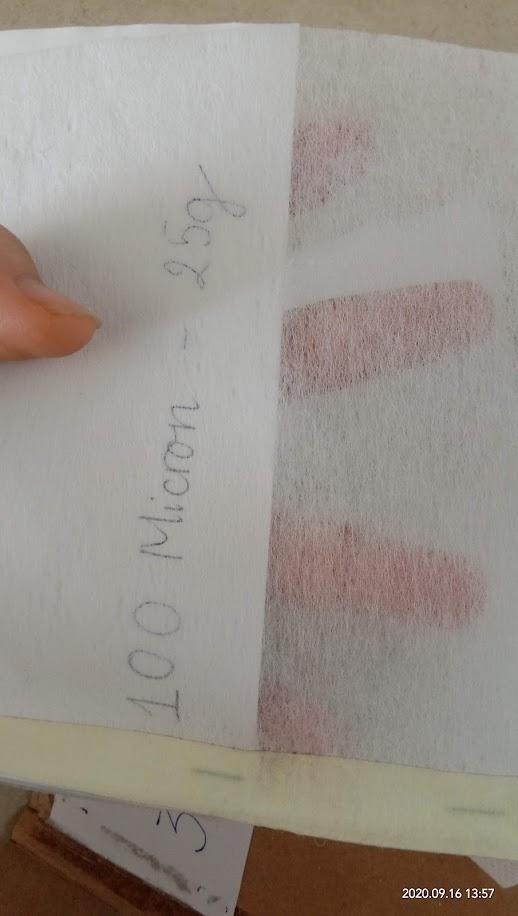 giấy lọc trơn 25g tương đương lọc 100 micron
