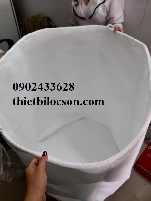 Túi lọc đáy trụ tròn vải PE loại 450g