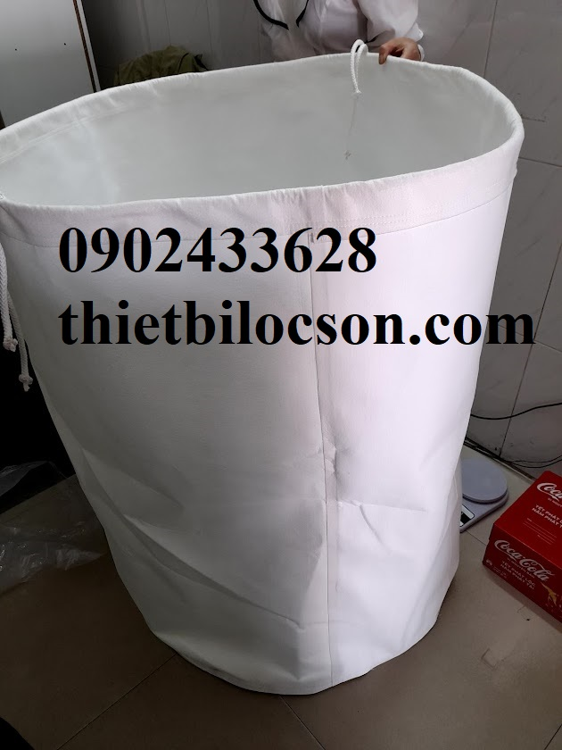 Túi lọc bụi đáy trụ tròn vải PE loại 1 micron